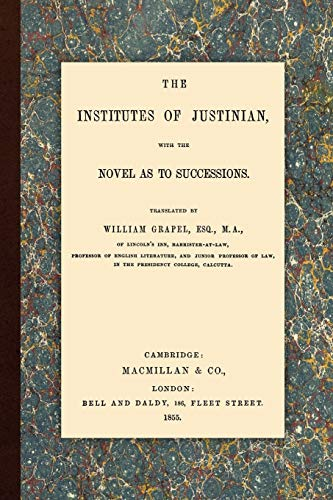 9781616190231: The Institutes of Justinian