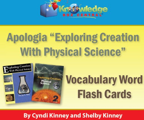 9781616253813: Apologia Exploring Creation With Physical Science Vocabulary Word Flash Cards (1st & 2nd Editions) PRINTED
