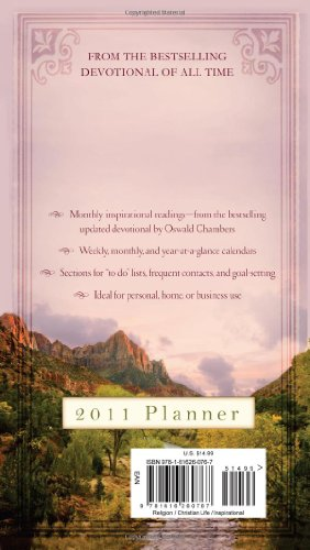 9781616260767: My Utmost for His Highest 2011 Planner