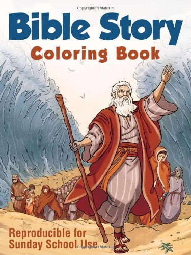 9781616269340: Bible Story Coloring Book