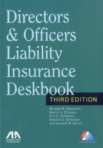 9781616329198: Directors & Officers Liability Insurance Deskbook