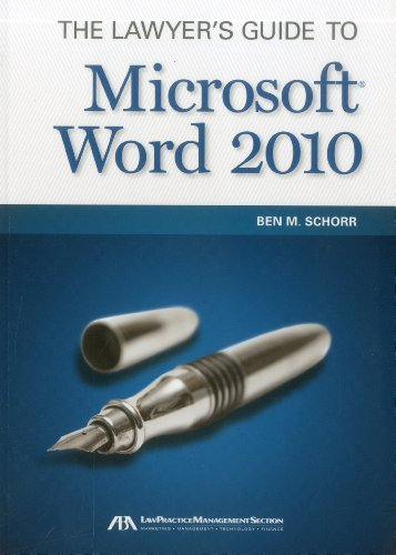 9781616329495: The Lawyer's Guide to Microsoft Word 2010