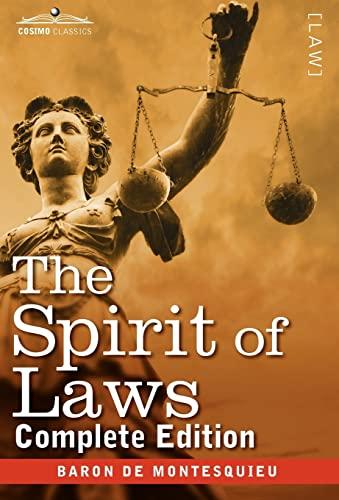 9781616405298: The Spirit of Laws (Cosimo Classics)