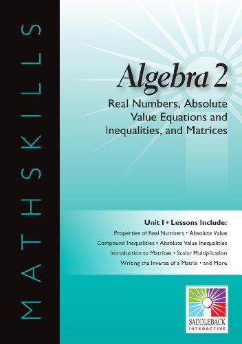 9781616514938: Real Numbers, Absolute Value Equations and Inequalities, and Matrices (Mathskills)