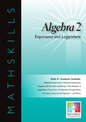 9781616514969: Exponents and Logarithms (Mathskills)