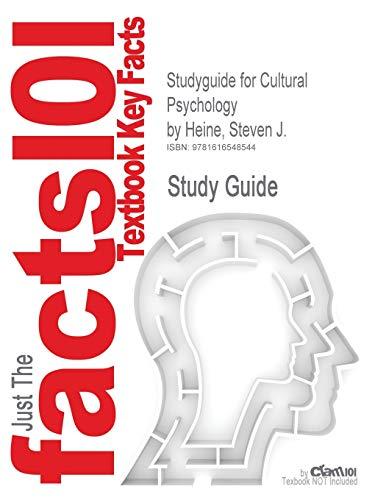 9781616548544: Studyguide for Cultural Psychology by Heine, Steven J, ISBN 9780393925739