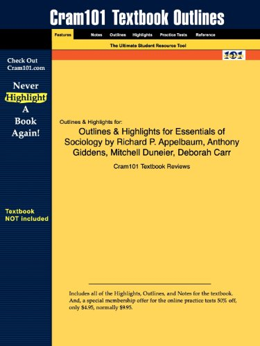 Outlines Highlights for Essentials of Sociology by Richard P. Appelbaum, Anthony Giddens, Mitchell ...