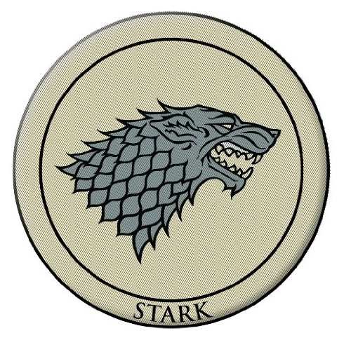"Dark Horse Deluxe Game of Thrones 3"""" Embroidered Patch Stark"