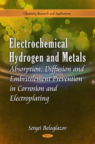 9781616687830: Electrochemical Hydrogen and Metals: Absorption, Diffusion And Embrittlement Prevention In Corrosion and Electroplating (Chemistry Research and Applications)