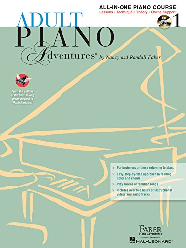 9781616773014: Adult Piano Adventures All-in-One Lesson Book 1 +CD
