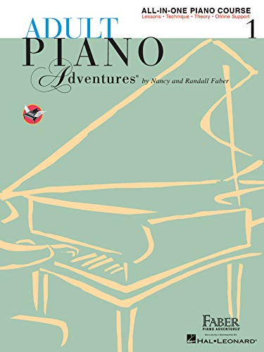 9781616773021: Adult Piano Adventures All-in-One Lesson Book 1 Piano +Enregistrements Online