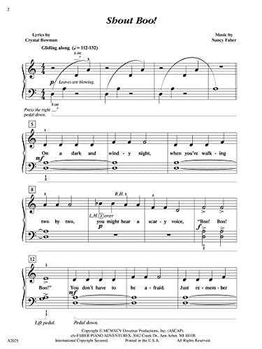 Shout Boo! - Piano Solo: Nancy Faber