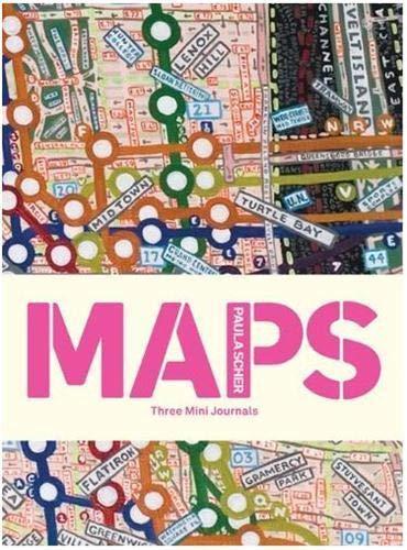 9781616891435: Paula Scher MAPS New York/Paris/London: Three Mini Journals