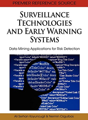 9781616928650: Surveillance Technologies and Early Warning Systems: Data Mining Applications for Risk Detection