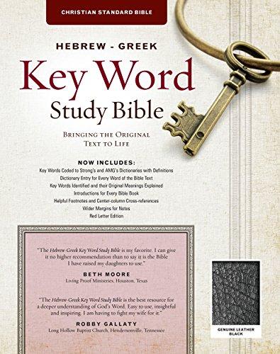 The Hebrew-Greek Key Word Study Bible: CSB Edition, Black Genuine: Dr Spiros Zodhiates