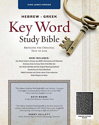 9781617159831: The Hebrew-Greek Key Word Study Bible: KJV Edition, Black Genuine Leather Thumb-Indexed (Key Word Study Bibles)