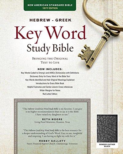 9781617159855: The Hebrew-Greek Key Word Study Bible: NASB-77 Edition, Black Bonded Leather Thumb-Indexed (Key Word Study Bibles)
