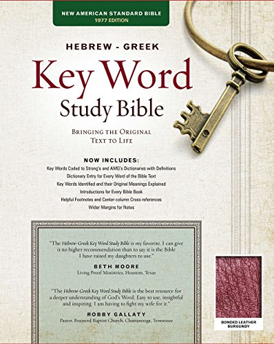 9781617159862: The Hebrew-Greek Key Word Study Bible: NASB-77 Edition, Burgundy Bonded Leather Thumb-Indexed (Key Word Study Bibles)