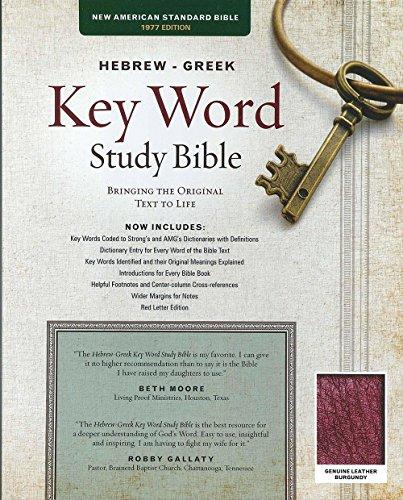 9781617159886: The Hebrew-Greek Key Word Study Bible: NASB-77 Edition, Burgundy Genuine Indexed (Key Word Study Bibles)