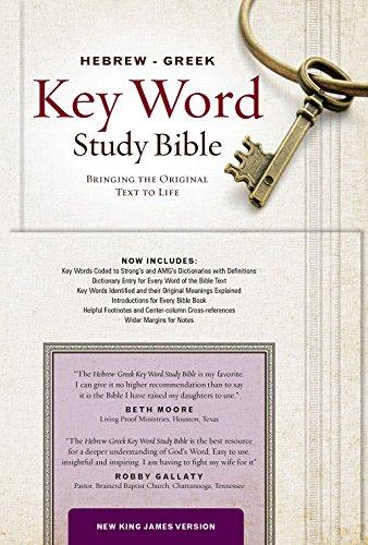 9781617159909: Hebrew-Greek Key Word Study Bible: NKJV Genuine Leather Burgundy Indexed (Key Word Study Bibles)