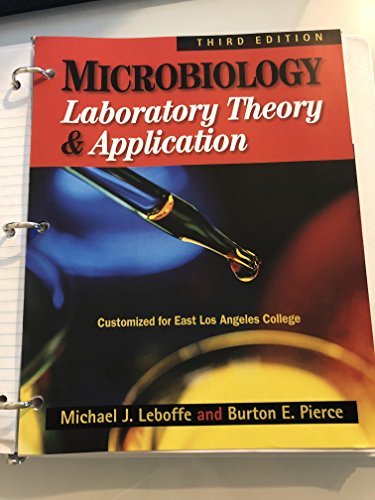 9781617314070: Microbiology: Laboratory Theory & Application Manual Third Edition (**East Los Angeles Customized Edition**)