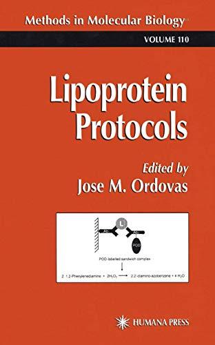 9781617370311: Lipoprotein Protocols (Methods in Molecular Biology)