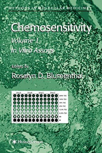 Chemosensitivity: In Vitro Assays vol. I