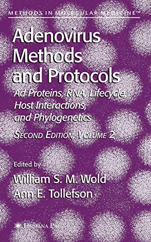 9781617378355: Adenovirus Methods and Protocols: Volume 2: Ad Proteins and RNA, Lifecycle and Host Interactions, and Phyologenetics (Methods in Molecular Medicine)