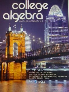9781617400858: College Algebra, 15Math1021 Workbook V1.2