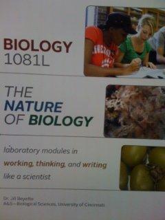 9781617401084: BIOL 1081L The Nature of Biology, Custom Laboratory Manual for University of Cinicinnati