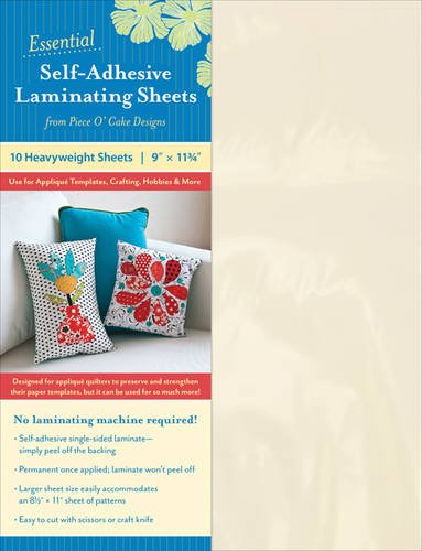 9781617451270: Essential Self-adhesive Laminating Sheets: Use for Applique Templates, Crafting, Hobbies & More: Heavyweight Sheets 9
