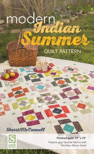 """Modern Indian Summer Quilt Pattern: Finished Quilt: 73"""" X 73"""" - Feature Your Favorite ..."""
