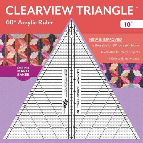9781617452659: Clearview Triangle™ 60° Acrylic Ruler―10""