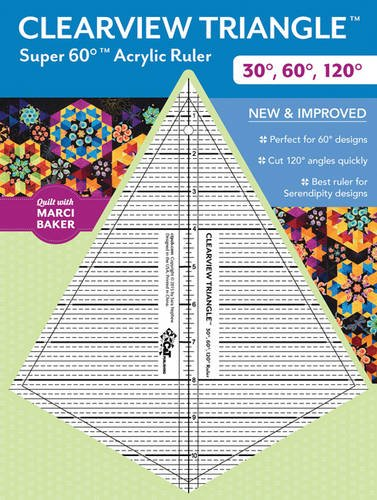 9781617452963: Clearview Triangle™ Super 60™ Acrylic Ruler: 30°, 60°, 120°