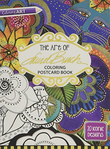 The Art of Laurel Burch Coloring Postcard: Laurel Burch