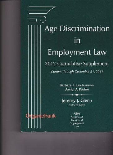 9781617461101: Age Discrimination in Employment Law, 2012 Cumulative Supplement
