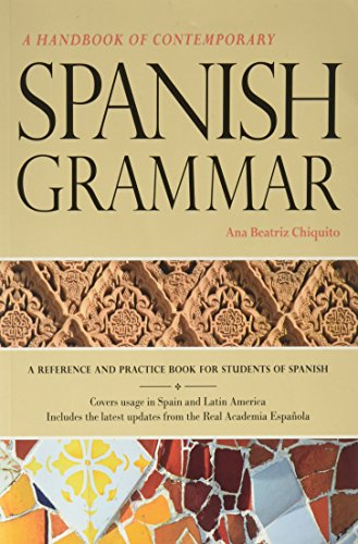 9781617671067: Handbook of Contemporary Spanish Grammar Student Edition w/ Supersite Code