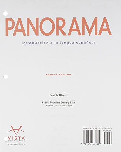 Panorama (TEXT ONLY)(LoosePgs): Blanco