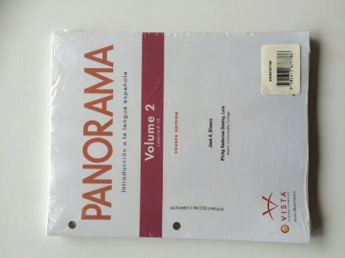 9781617677786: Panorama Vol 2 Student Edition w/ Supersite PLUS Code