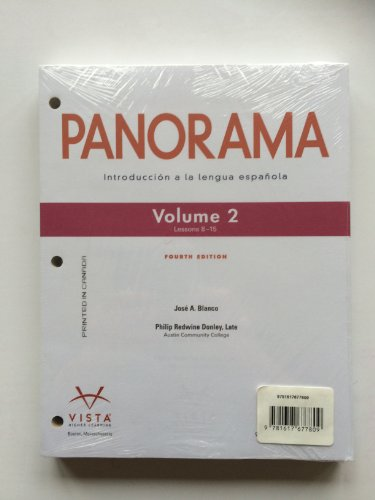 9781617677809: Panorama. 4th Edition, Volume 2 (Lessons 8-15) with Supersite Code and Workbook/Video Manual