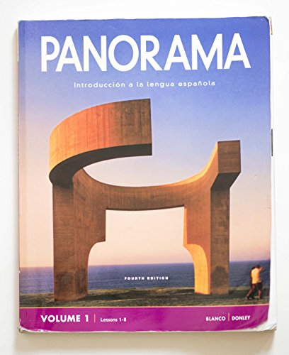 Panorama 4e Student Edition V1 (1-8): Blanco, Jose A.; Donly, Philip Redwine