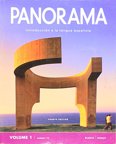 9781617678042: Panorama, 4th Ed, Student Edition Vol 1. (Lessons 1-8) and Supersite Plus Code