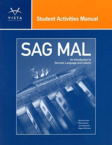 9781617679513: Sag Mal Student Activities Manual
