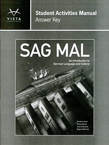9781617679520: Sag Mal ANSWER Key for Student Activities Manual