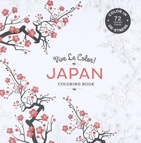 Vive Le Color Japan Adult Coloring Book In De Stress
