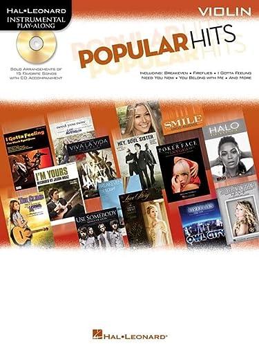 9781617740039: Popular Hits For Violin - Instrumental Play-Along Cd/Pkg