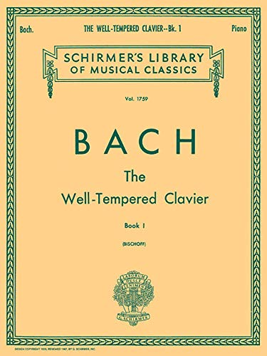 9781617740794: Well Tempered Clavier - Book 1: Piano Solo (Schirmer's Library of Musical Classics)