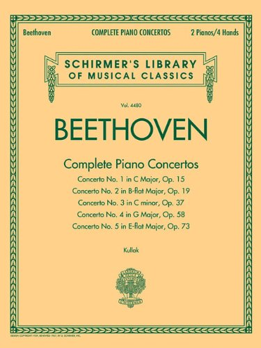 9781617741241: Beethoven - Complete Piano Concertos: Schirmer's Library of Musical Classics Vol. 4480 Two Pianos, Four Hands