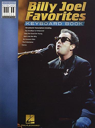 Billy Joel: Favorites - Keyboard Book (Note-For-Note Keyboard Transcriptions)