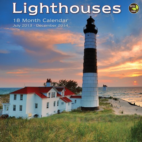 9781617767869: 2014 18-Month Lighthouses Wall Calendar